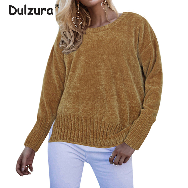 45f399db74d3bb Thicken Warm Chenille Sweaters Women 2018 Autumn Winter O Neck Knitted  Pullovers Jumpers Cozy Long Sleeve