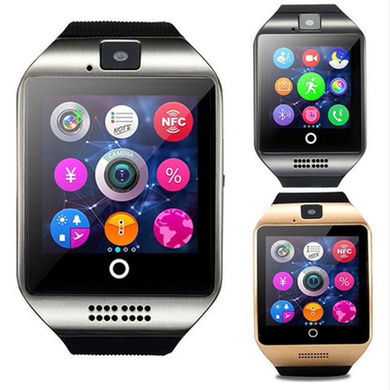 Bluetooth Q18 Smart Watch WristWatch Sport Pedometer With SIM Camera Smartwatch For Android Smartphone Russia T15 Good Than DZ09