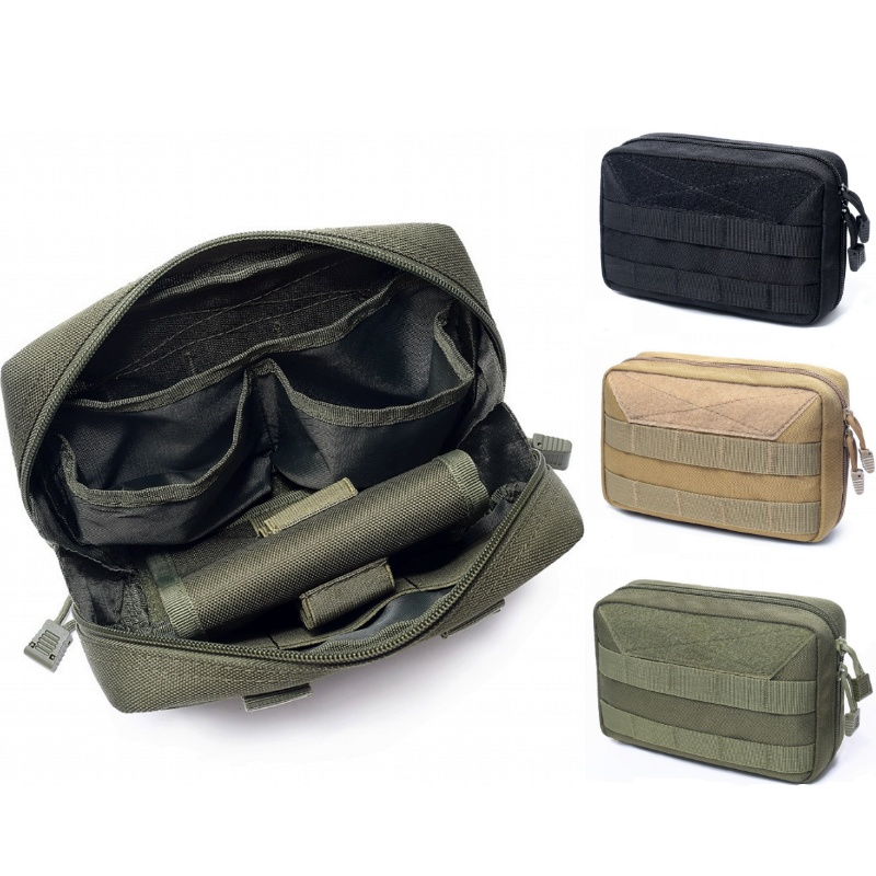CQC Tactical EDC Molle Medical Pouch First Aid Kit Waist Pack Phone Holder Military Airsoft Outdoor Hunting Mag Bag