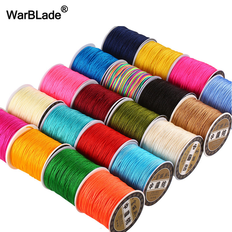 Cord Bracelet Rope Beads Jewelry-Making-Accessories Weave Knot-String DIY Nylon Chinese