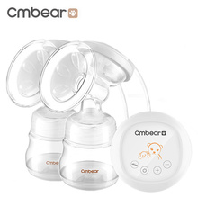 Cmbear Strong Suction Massage Breast Pumps Bottle Baby Breastfeeding LCD Display Double Pump Milk PP USB