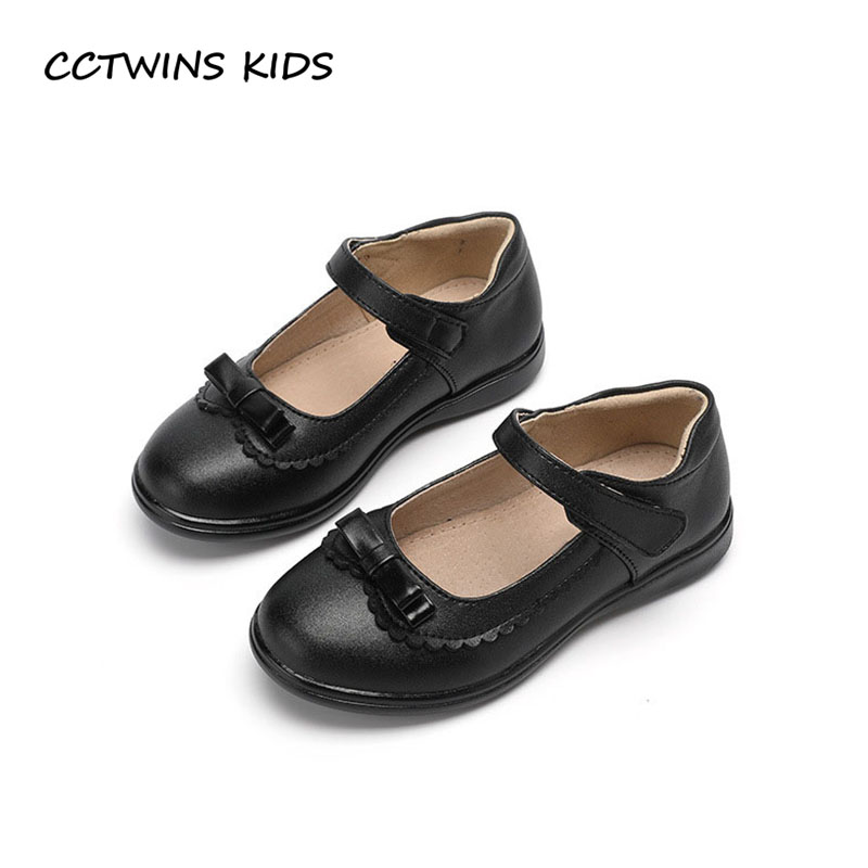 CCTWINS KIDS 2018 Autumn Children Butterfly Princess Shoe Baby Genuine Leather Flat Toddler Fashion Mary Jane Black GM2033 cctwins kids 2018 spring fashion pink princess butterfly shoe children genuine leather mary jane baby girl party flat gm1942