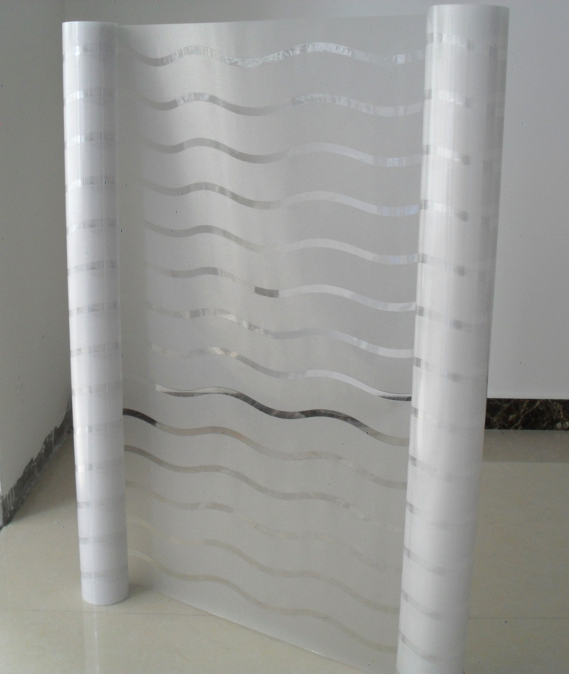 Lemon Cloud No Glue Home Decorative French Door Window Films Glass