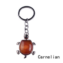 latest turtle key ring fashion animal tortoise metal crystal semi precious stones Christmas gifts to girls and boys Lol