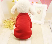 FD10 Free shipping Autumn Winter Pet Dog hoodie clothes Warm Solid Puppy dogs cats sweater cotton Hoodies Clothing for Teddy
