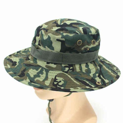 Mens Camouflage Bucket Hat Boonie Hunting Fishing Outdoor Wide Brim Sun Cap NEWS