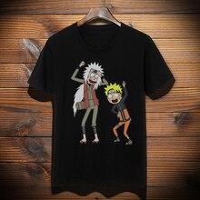 Rick and Morty Naruto T-shirt