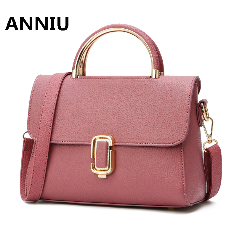 ANNIU new designer luxury brand high quality PU leather ladies handbag Famous brand women shoulder bag female candy crossbody women messenger crossbody bag for women leather luxury designer bag handbag women famous brand ladies high quality 2017 sac 935