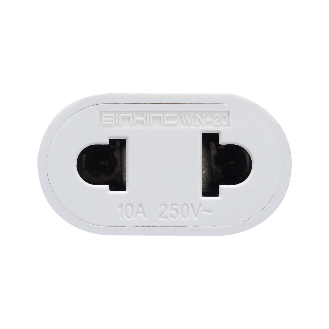 1pc US To EU Plug Power Adapter White Travel Power Plug Adapter Converter Wall Charger