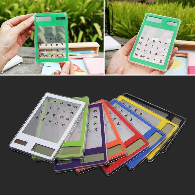 Тонкий ЖК-дисплей 8-значный Дисплей научный калькулятор ясно Сенсорный экран Солнечный Калькулятор для школы и офиса