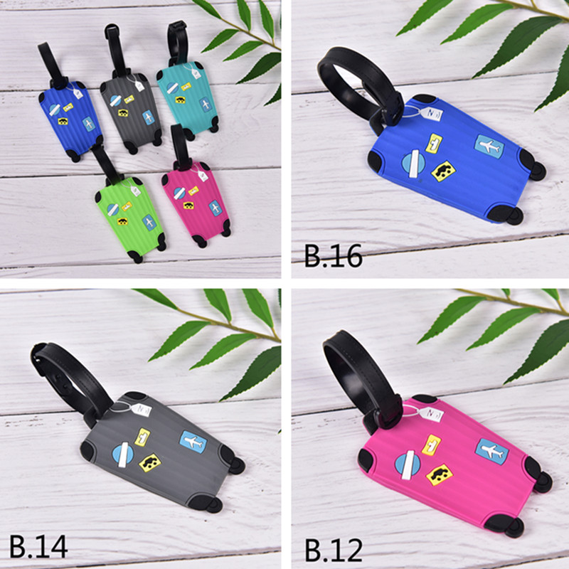Luggage Tags For Travel English Letter Luggage Label Strap Suitcase Name ID Address Tags Luggage Tags