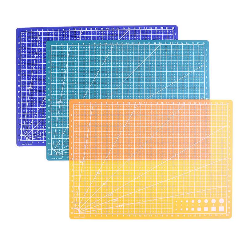 1PC 30*22 ซม.A4 เส้นตาราง Self Healing ตัด Craft Card ผ้าหนังกระดาษเย็บเครื่องมือ