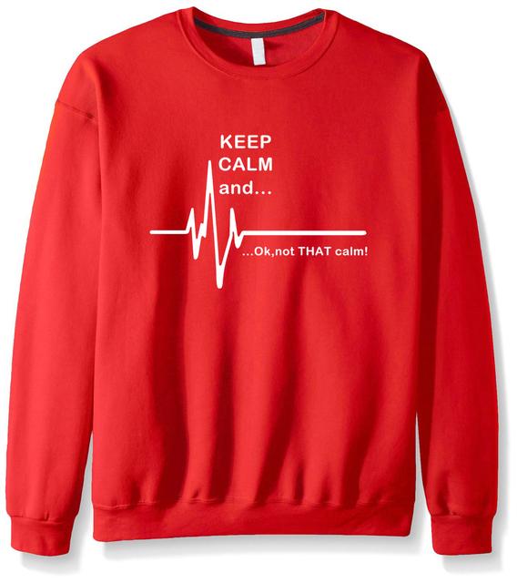 Keep calm and not that funny heart paramedic nursing sweatshirts women men streetwear male mma cotton suit european style