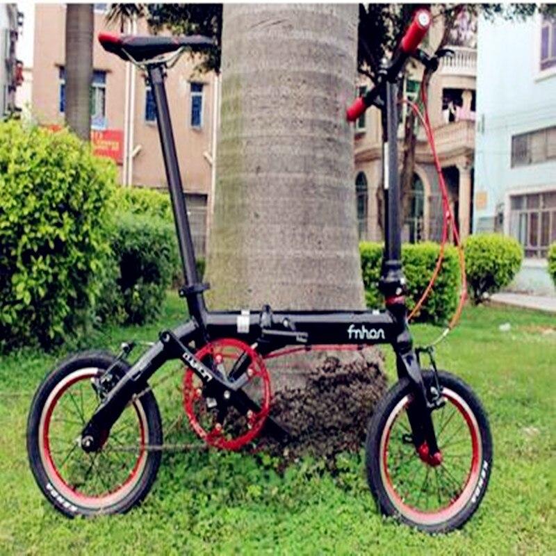 2019 NEWEST!!!FNHON 14 INCH Popular Folding  Convenient Travel  Bicycle Mini Modified Bike Ultra Light Frame