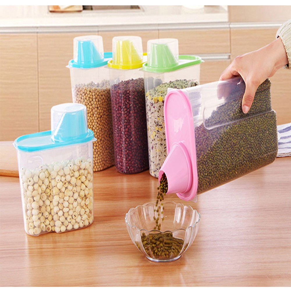 Kitchen Diorama Made Of Cereal Box: 1PC Kitchen Storage Organizer Blue/Pink/Yellow Plastic