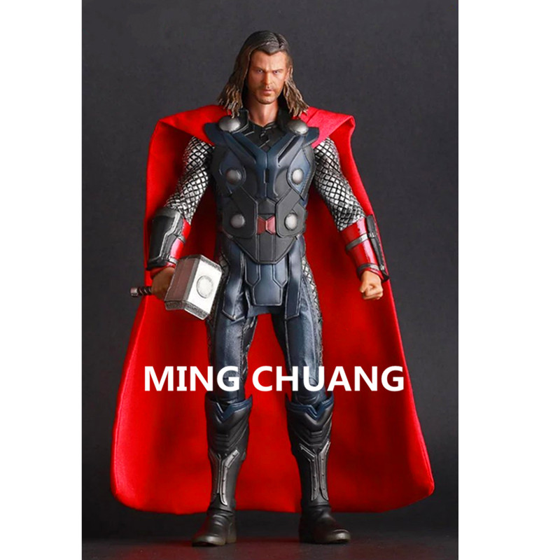 Avengers infinity war Thor Superhero PVC Action Figure Collectible Model Toy 12Inches D45 avengers infinity war superman superhero batman wonder woman justice league the flash action figure dc comics model toy l1408