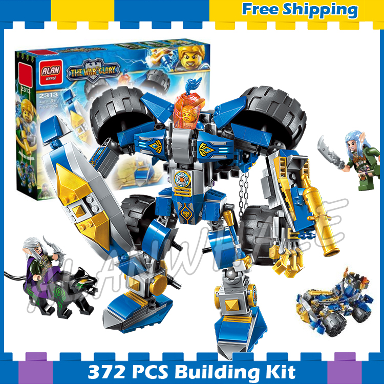 372pcs 2in1 The War Human VS Elves Huntress Siege Engine Knights Model Building Blocks Kit Games Gifts sets Compatible with lego