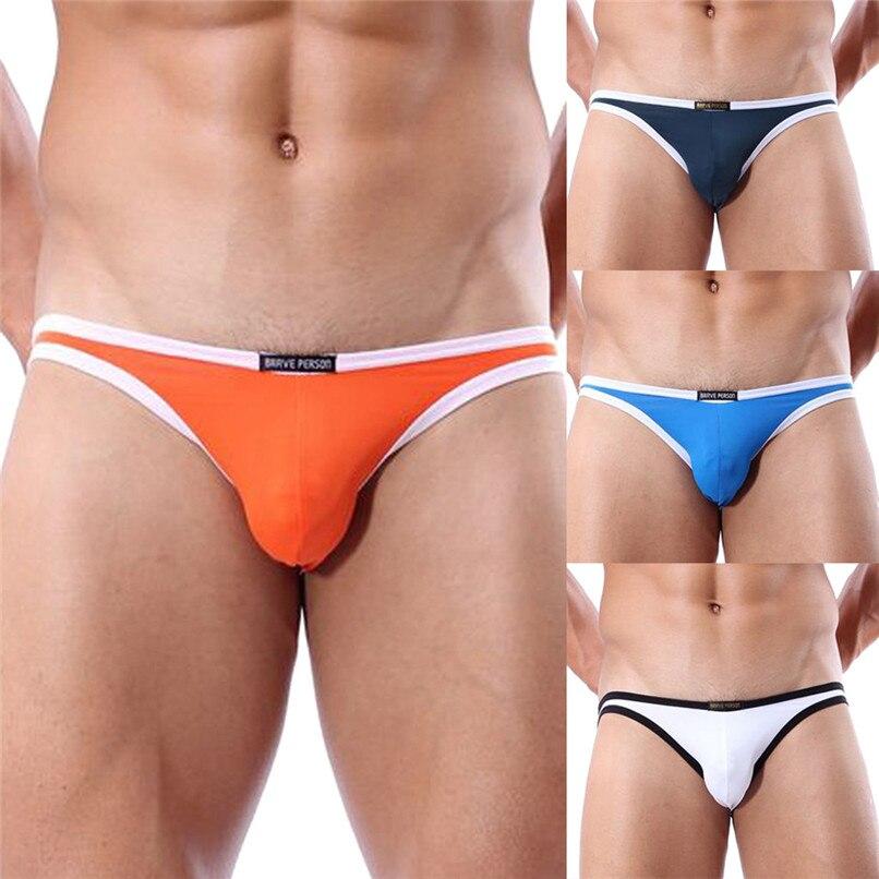 Sexy Underwear Briefs Men Triangle Swimwear Cotton Underpants Male Panties Mens Gay Underwear Wholesale #2F28
