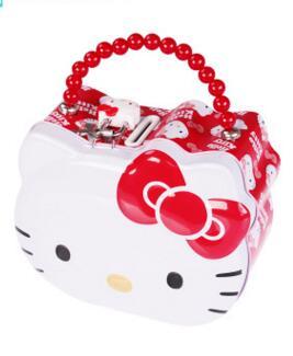 Best Gift For Birthday Kawaii Cartoon Hello Kitty Handbag Design Children Mental Money Box