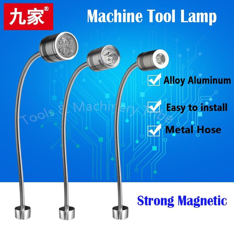 Led Machine Light Small Machine Working Lamps Metal Hose Freely Bend Lamps 12V/24V/220V High Brightness For Machining Center