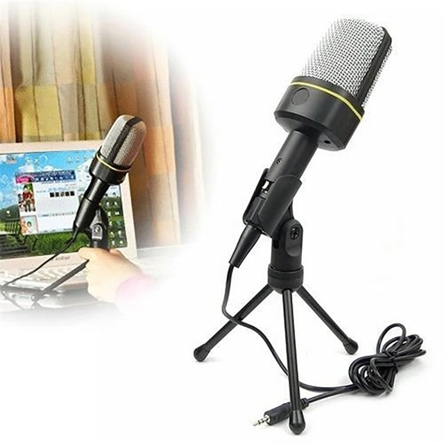 3.5 мм Студия Профессиональный Микрофон Микрофон с Подставкой Для Аудио Записи Звука Skype Настольных ПК Портативный Ноутбук