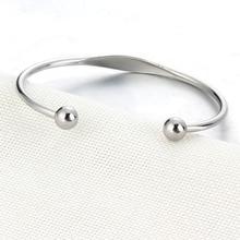 Personalized Cuff Bracelets Stainless Steel Open Bangles Women Fashion Jewelry Female Charm Bracelet