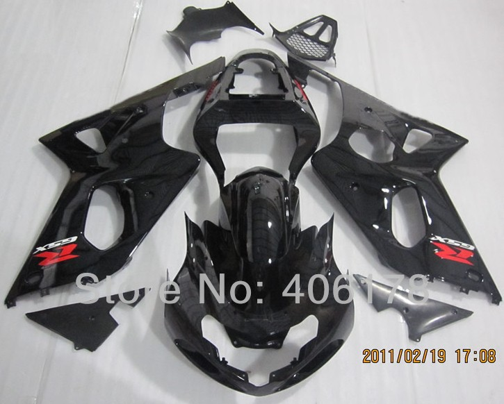 Hot Sales,Cheap gsxr 750 600 k1 fairing Kit For Suzuki GSXR600/750 2001 2002 2003 Black Motorcycle FairIngs (Injection molding) hot sales sv650 03 04 05 06 07 08 09 10 11 12 13 fairings for suzuki sv650 2003 2013 sv650s black abs motorcycle fairing set