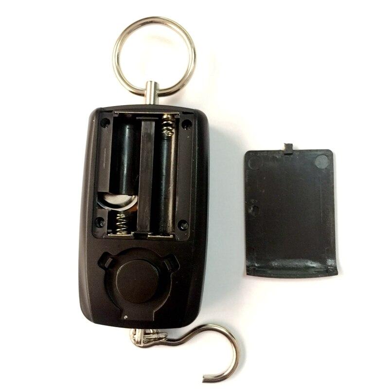 Pocket portatile Mini 50kg//5g LCD Digitale Pesce Appeso bagagli peso scala gancio