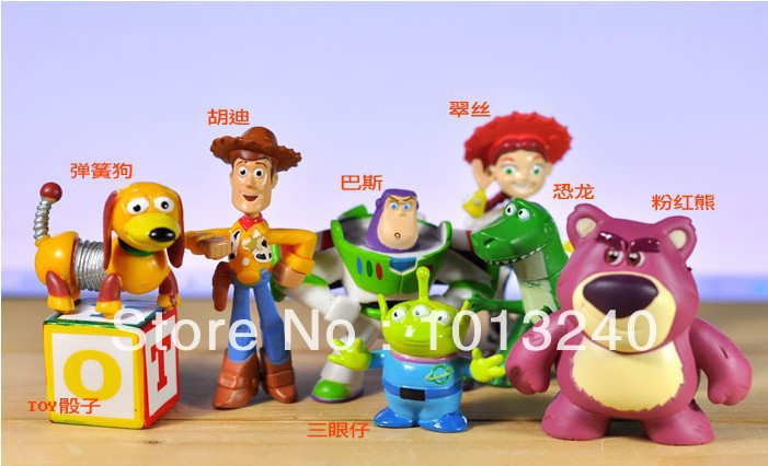 Wholesale 10sets 8pcs/set Toy Story 3 sheriff Woody Buzz