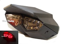 Black R6 Style Integrated Led Taillight Tail Brake Turn Signal Light Smoke For 2009 2015 YAMAHA