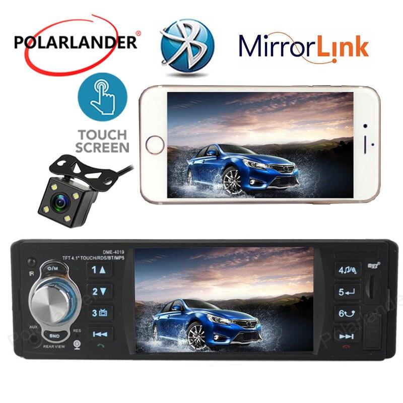 Radio cassette lecteur voiture MP5 lecteur Radio stéréo écran tactile Bluetooth miroir lien Autoradio 4.1 pouces 1 Din télécommande FM