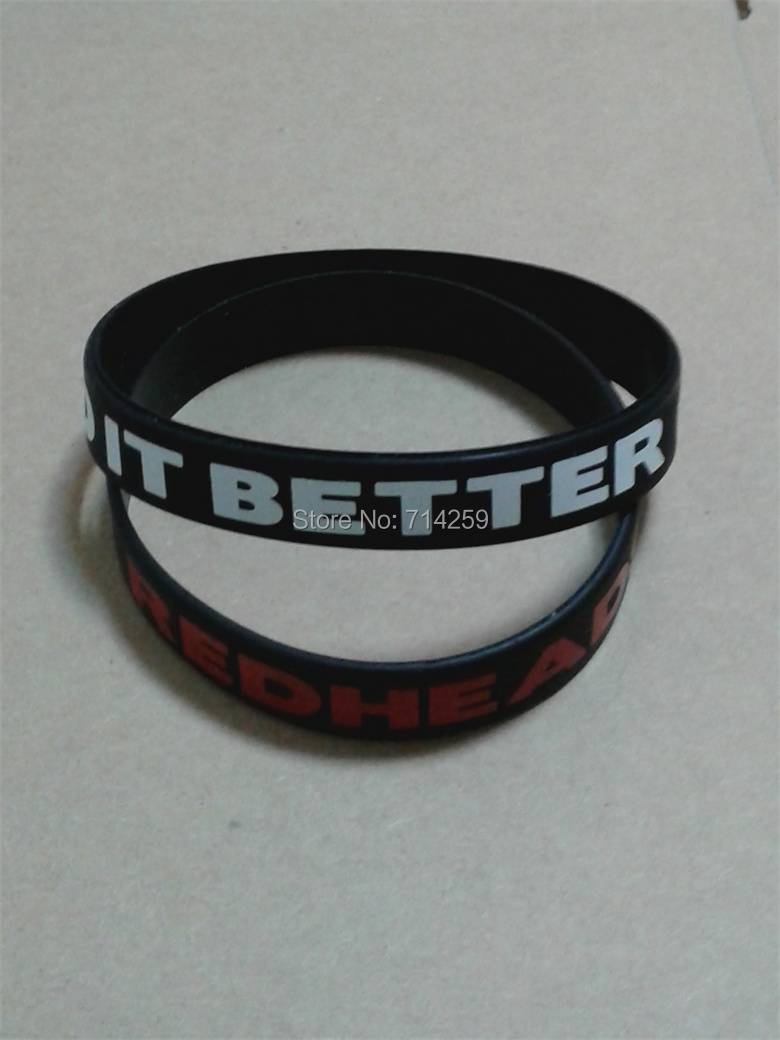 High Quality Customized Personalized Text Rubber Silicone Wristband  Bracelets For Events P112601(china (mainland