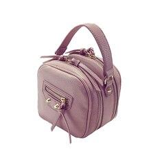 Double layer motorcycle Bag Women PU Leather Stylish font b Handbag b font Occident Style Fashion