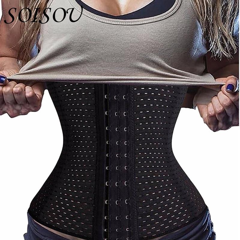 SOISOU 6XL Corset Waist Trainer Body Shaper Modeling Belt Bodysuit Women Slimming Belt Corrective Underwear Cinta Modeladora