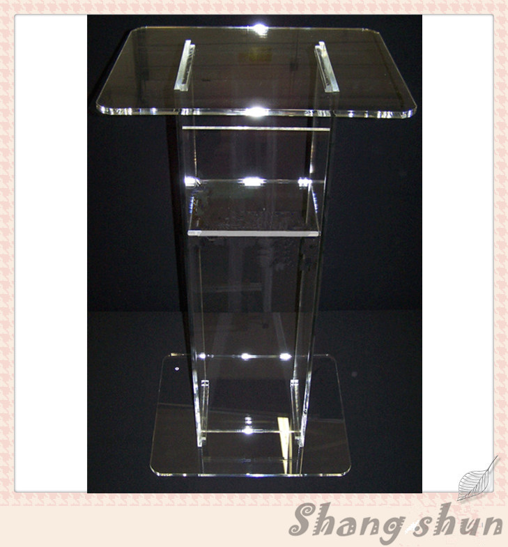Free Shipping clean fashion design acrylic pulpit of the church, custom clear acrylic pulpit of the church
