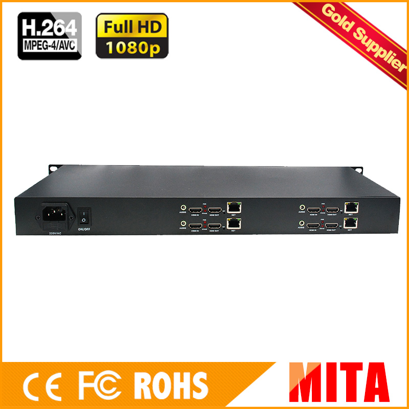 HD H.264 MPEG-4 AVC 1U 4 Channels HDMI IPTV Encoder for IP Streaming with HTTP RTSP RTMP HLS for YouTube Facebook WOWZA USTREAM uray 1u rack 4 channels h 264 hd hdmi ip video streaming encoder iptv support http rtsp rtmp udp rtmp hls multicast