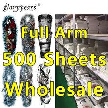500 조각 도매 전체 팔 문신 아름다움 임시 문신 헤나 쥬얼리 데칼 디자인 문신 스티커 메이크업