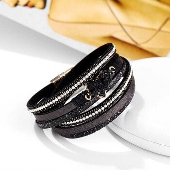Big Stone Crystal Wrap Bracelets Bangles 4