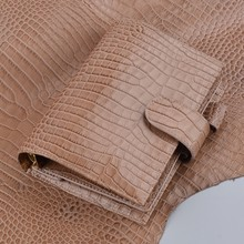 100% Genuine Leather Rings Notebook 19.2x13.5cm Gold Binder Daily Planner Handma