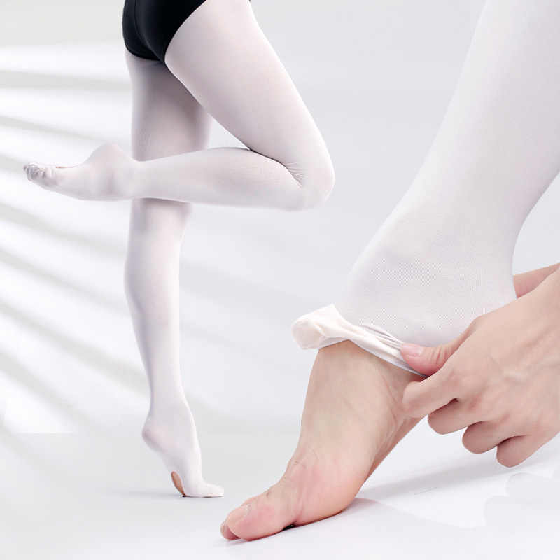 73b5fad637ee3 ... Professional Kids Children Girls Soft Microfiber Convertible Ballet  Dance Tights 60D 3 Pairs ...