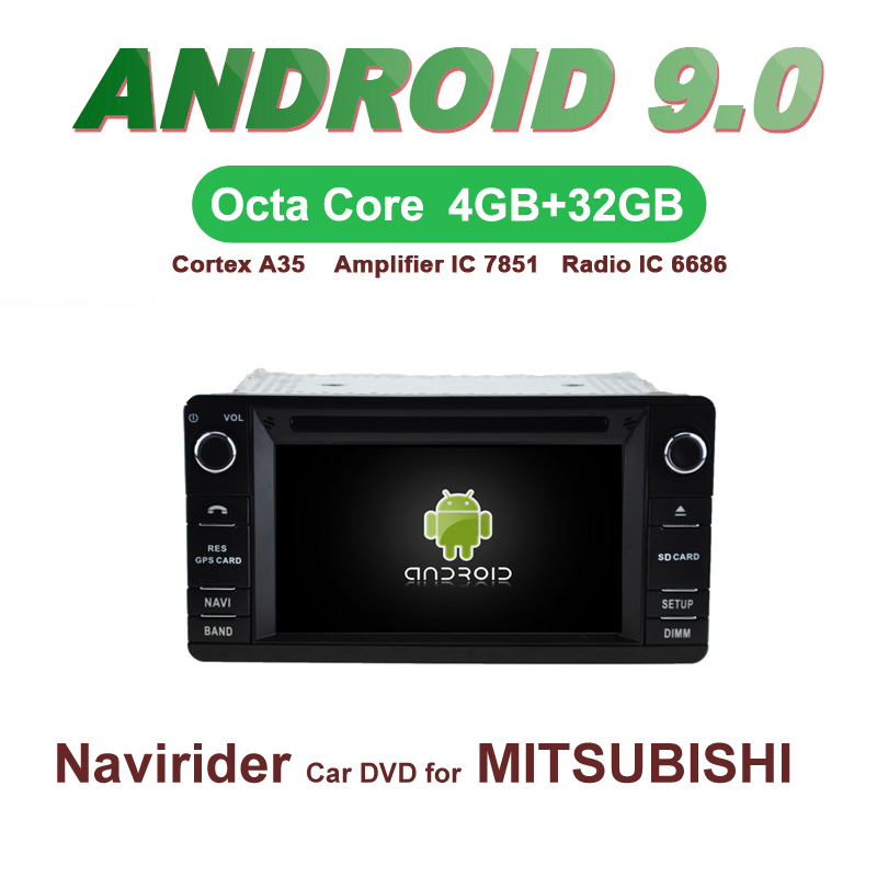 OTOJETA Car GPS 6.2inch Android 9.0 Radio FOR MITSUBISHI OUTLANDER XL <font><b>12</b></font>+ LANCER-X ASX 13+ Capacitive screen support mirror link image