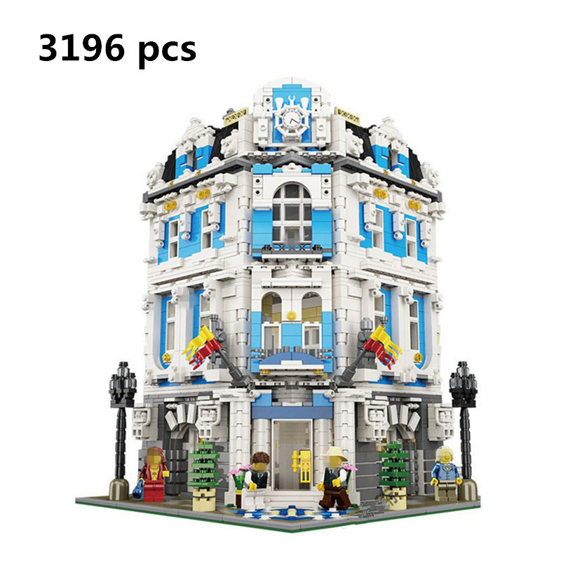 Hot Sale 3196pcs Lepin 15018 MOC City Series The Sunshine Hotel Set Building Blocks Bricks Educational Palace Childen Toys new 3196pcs lepin 15018 moc city series the sunshine hotel set building blocks bricks educational toys diy children day s gift