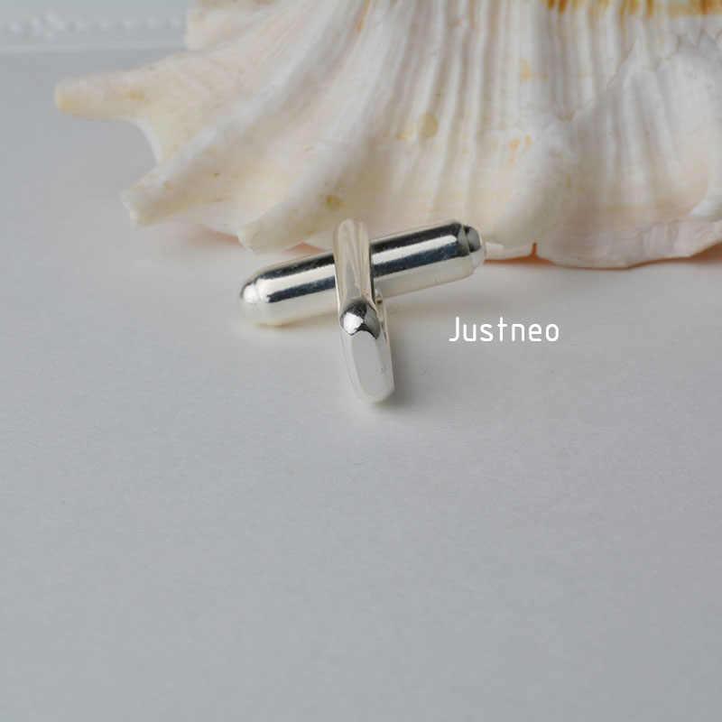 1 sztuka, solidna 925 Sterling Silver spinki do mankietów podstawa pręt okrągły z U Arm montowane, DIY komponenty