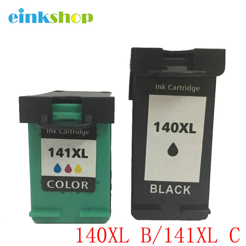 einkshop 140 141 xl Penggantian Cartridge Tinta Isi Ulang untuk HP 140xl 141xl Officejet J5725 J5730 J6413 J6410 J5783 D5363 printer