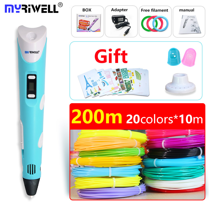 myriwell pen 3d pen 3d pens and 200m safety filament 3d print pen Inspire creativity model Drawing Tools 2018 Christmas present 3d christmas tree and stars print flocking hoodie