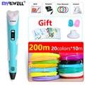 myriwell pen 3d pen 3d pens and 200m safety filament 3d print pen Inspire creativity model Drawing Tools 2018 Christmas present