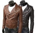 New Fashion Man short design mandarin Jacket  male  inclined zip coat  winter coat