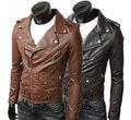 Nova Moda Homem mandarim projeto curto inclinado zip casaco de inverno casaco Jaqueta masculina