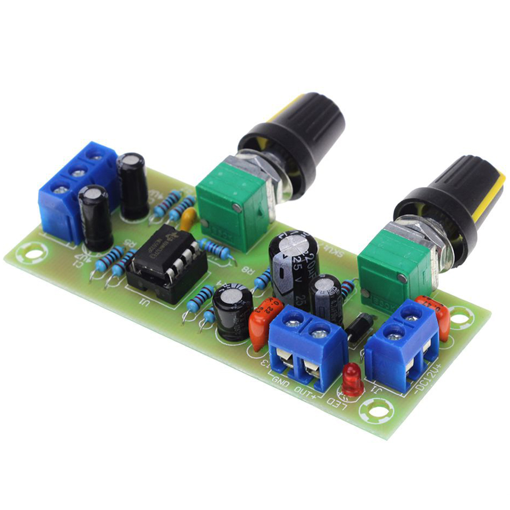 DC 10-24V 22Hz-300Hz Practical Module Preamp Board Filter Plate Amplifier Volume Control Accessories Bass Tone Subwoofer Smart