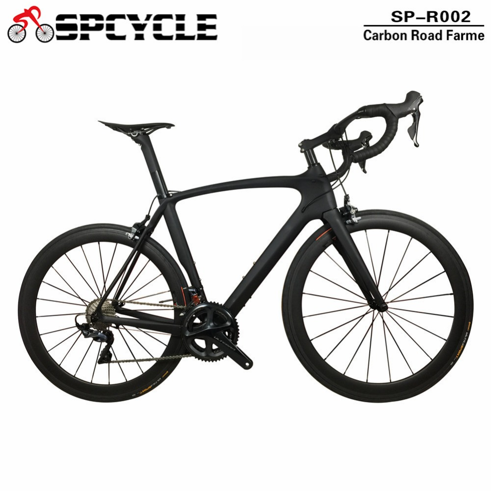 Smileteam Ultra light Full Carbon Road Complete Bike Di2 Carbon Bicycle Road Frame with 22 speed Ultegra Groupset 60mm Wheels
